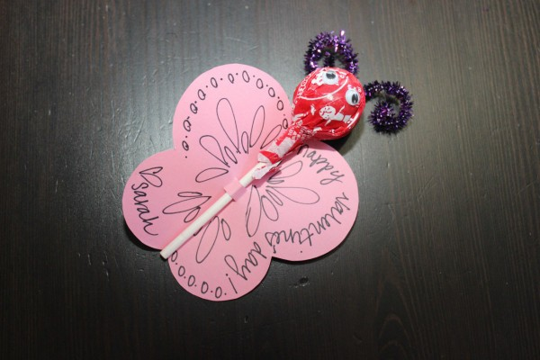 Making A Tootsie Pop Butterfly Valentine