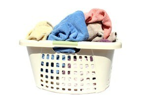 A laundry basket of towels