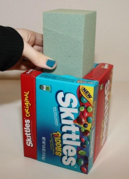inserting foam