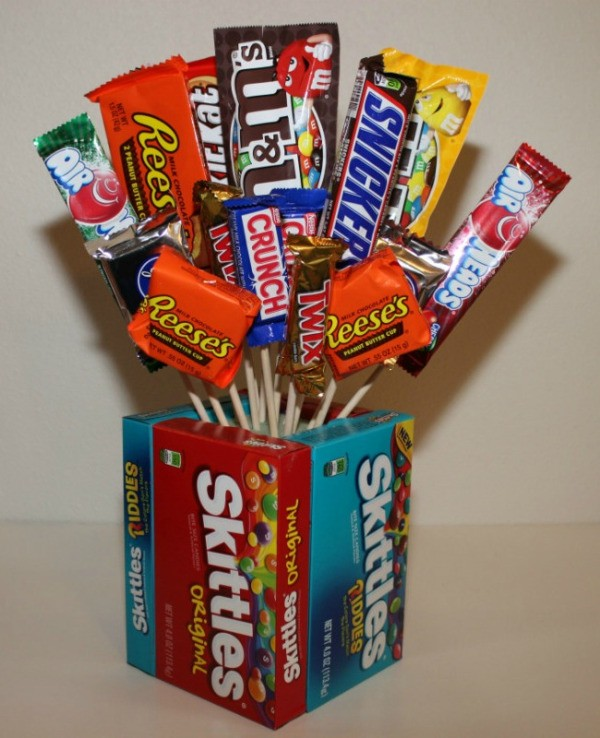 How Do You Make A Candy Bar Bouquet