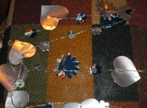 Recycled Pop Can Garland