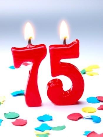 75th birthday party centerpiece ideas thriftyfun