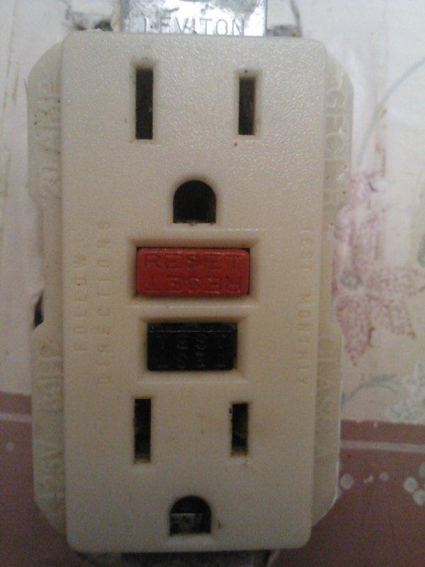 GFCI outlet.
