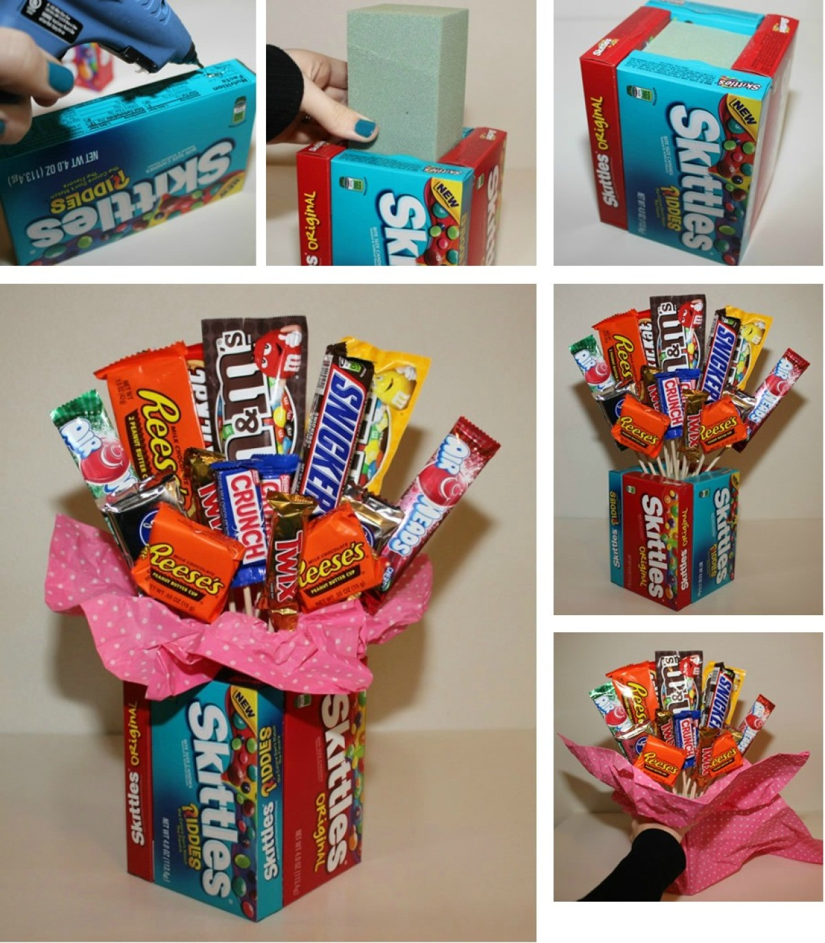 How To Make A Candy Bouquet Thriftyfun