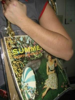 Record Album Cover  Bag