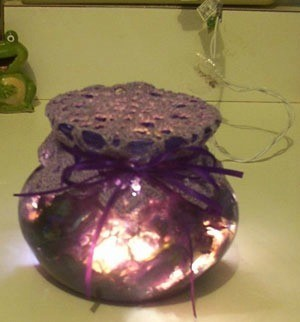 Jar with lights.