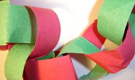 Construction paper garland.