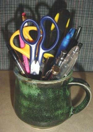 coffee mug pen holder