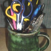 coffee mug pen holder