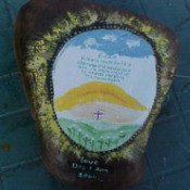 Painted rock in memory of deceased son.