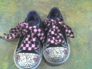 Blinged out sneakers.