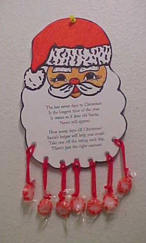 paper Santa countdown for last 7 days