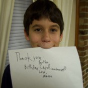 Mason's Thank-You Note