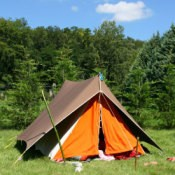 A large tent for camping