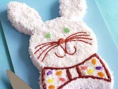 bunny cake on plate