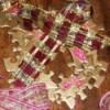 Puzzle ornament closeup.