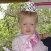 baby wearing a tiara