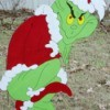 Grinch yard art
