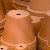stacks of terra cotta pots