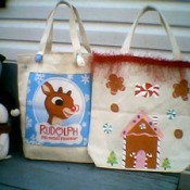 Christmas Purses - Rudolph and gingerbread house bags
