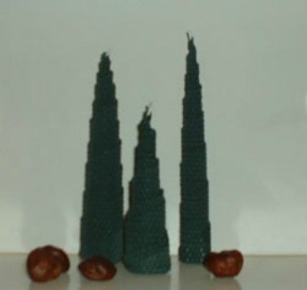 Beeswax Christmas Trees
