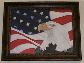 American Flag and Eagle Painting