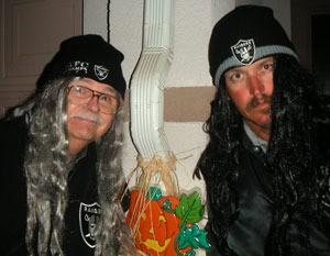 Two men in costume.