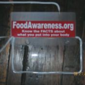 food awareness sticker