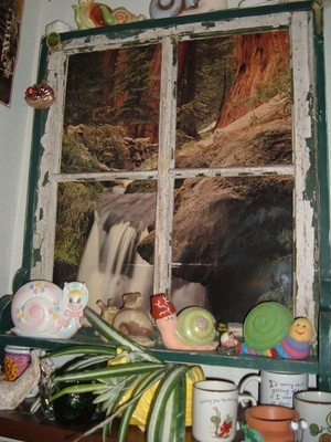 Using an Old Window Frame