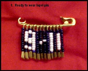 Safety pin lapel jewelry.