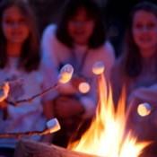 marshmallows over a campfire