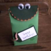 Frog gift bag.