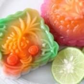 Fancy molded jelled dessert