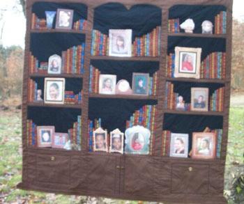 Bookcase quilt.