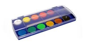 Watercolor paint box.