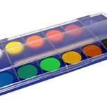 Watercolor paint box.