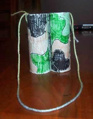 toilet paper tube binoculars