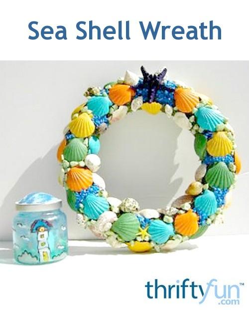 How to make a sea shell wreath thriftyfun for Seashell wreath craft ideas