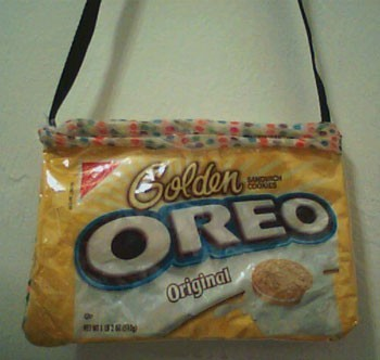 Oreo cookie package purse.