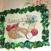 Apple pie motif needlework.
