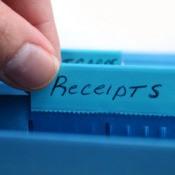 Organizing Tax Receipts