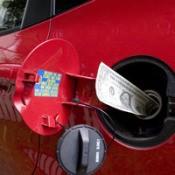 Money Stuffed in Gas Tank