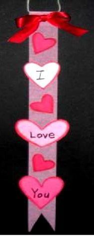 Valentine banner.