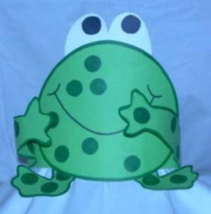 cute frog band hat