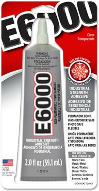 E6000 glue, commonly used for gluing glass.