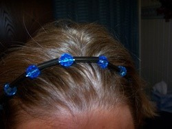 blue and black headband