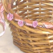 closeup of basket decoration