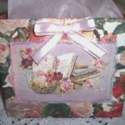 A Valentine's gift bag made from a Pop Tart box.