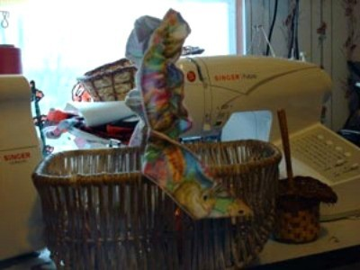 garter on basket
