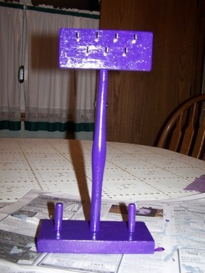 Finished Purple Jewelry Stand